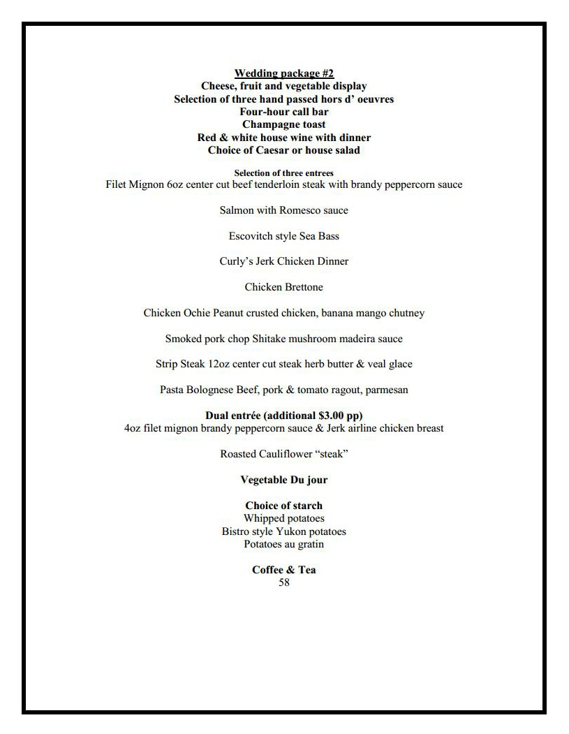 banquet wedding menu 2